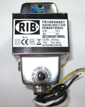 Picture of TR100VA001 - Transformer 100VA, 120 to 24VAC with Circuit Breaker