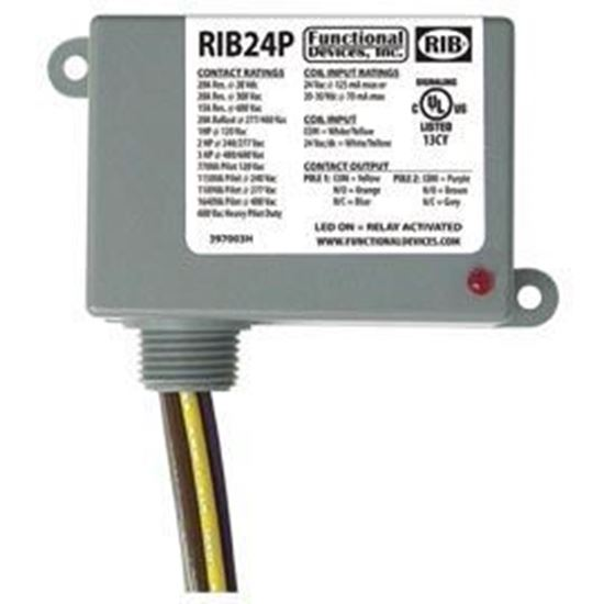 Picture of RIB24P Enclosed Relay 20Amp DPDT 24Vac/dc