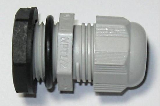 "Picture of Nylon Strain Relief Connector -  1/2"" NPT"