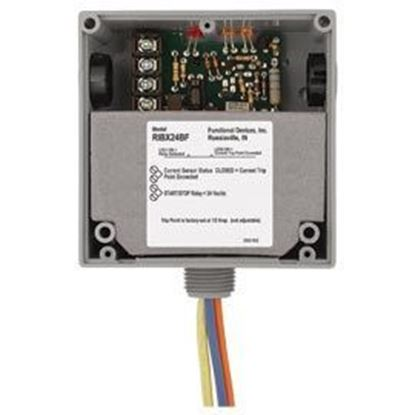 Picture of RIBX24BF Enclosed Internal Fix Current Sensor + Relay 20Amp SPDT