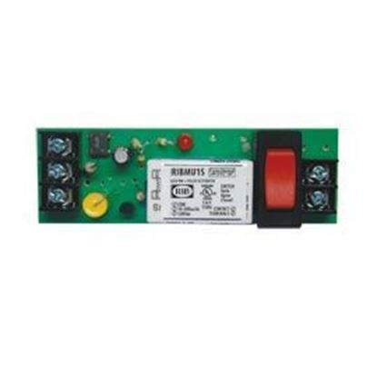Picture of RIBMU1S - 4 Track-Mount Relay 15Amp SPST-NO + Override 10-30Vac/dc/120Vac