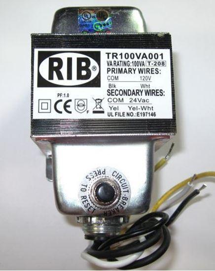 Picture of TR100VA001 - Transformer 100VA, 120 to 24VAC with Circuit Breaker