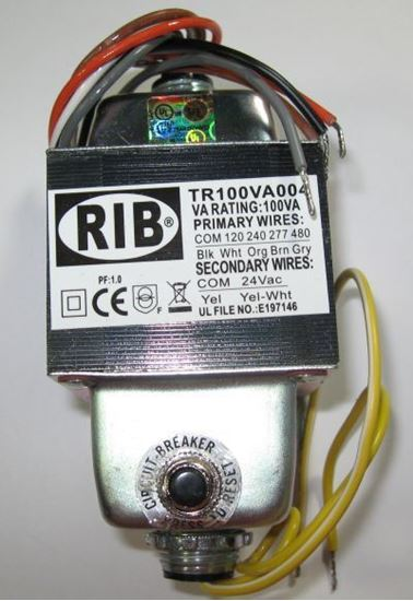 Picture of TR100VA004 - Transformer 100VA, 480/277/240/120 to 24VAC, Circuit Breaker