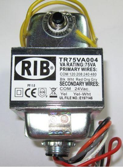Picture of TR75VA004 - Transformer 75VA, 480/240/208/120VAC to 24VAC, Circuit Breaker