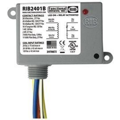 Picture of RIB2401B Enclosed Relay 20Amp SPDT 24Vac/dc/120Vac